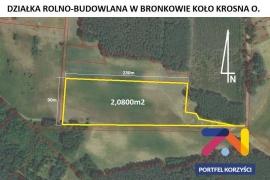 Działka rolno-budowlana o pow. 1500m2 w Bronkowie pow. krośnieński.