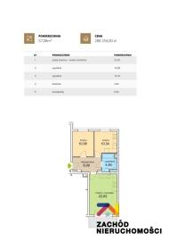 Nowe mieszkanie stan deweloperski 57,08 m2  0% PROWIZJI
